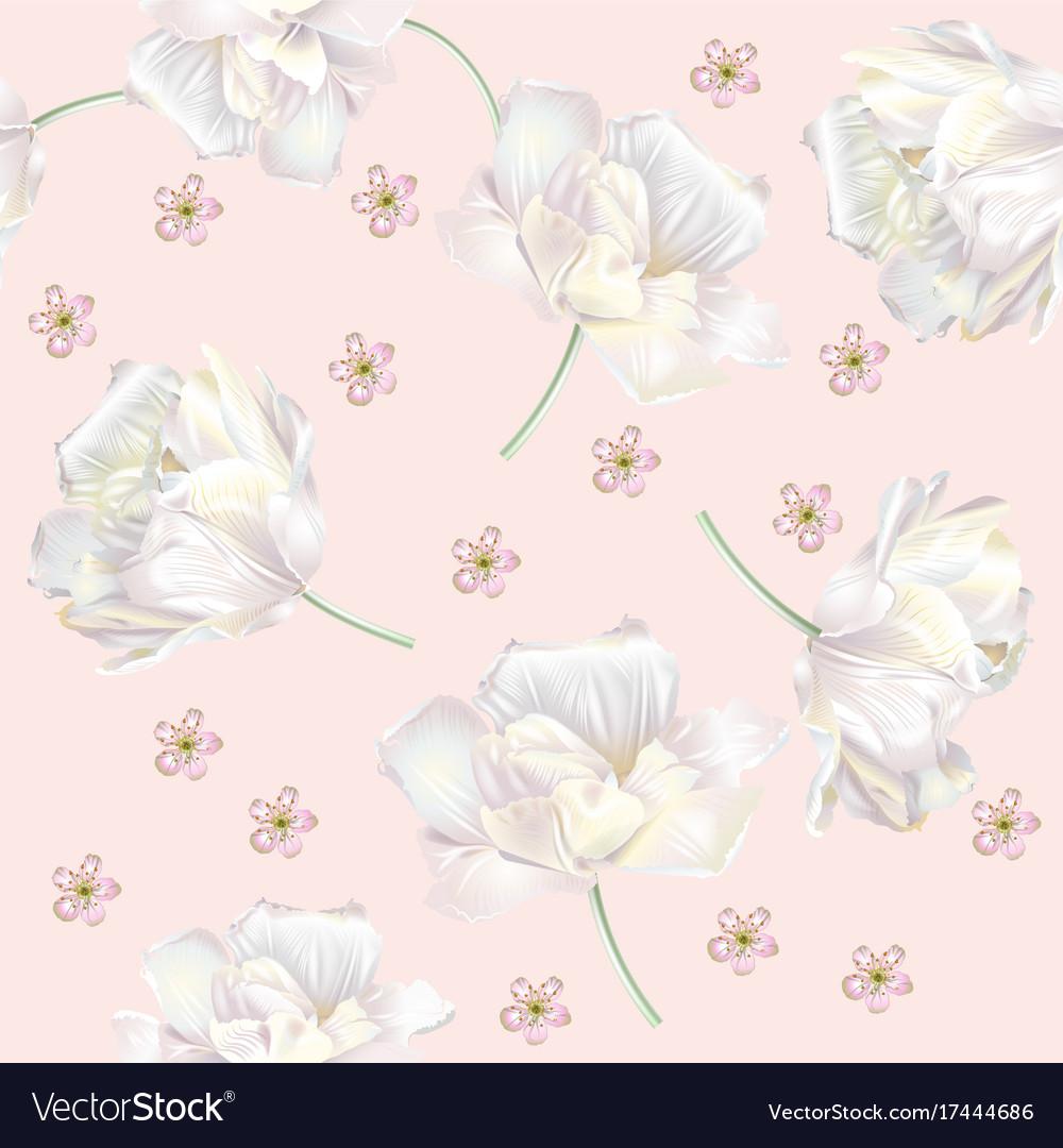 Tulip pattern pink
