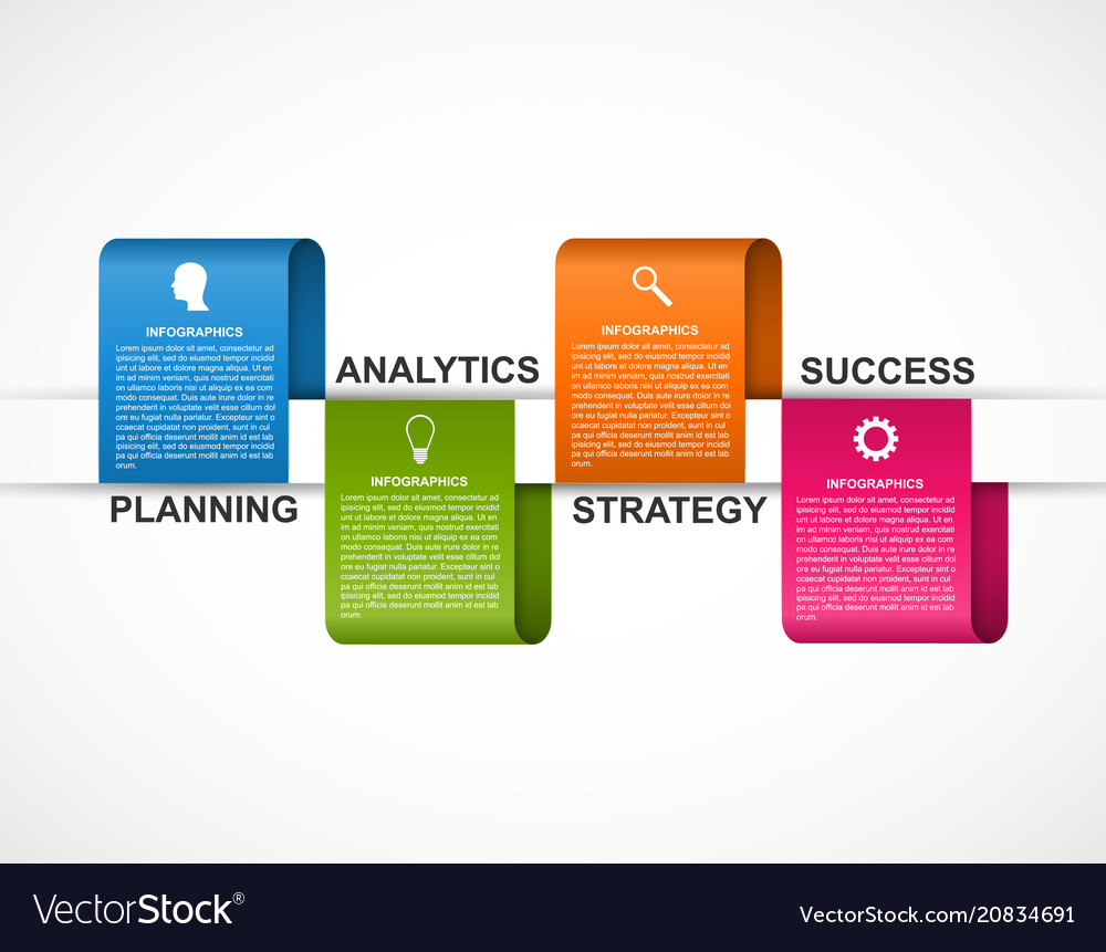 Abstract options infographics template