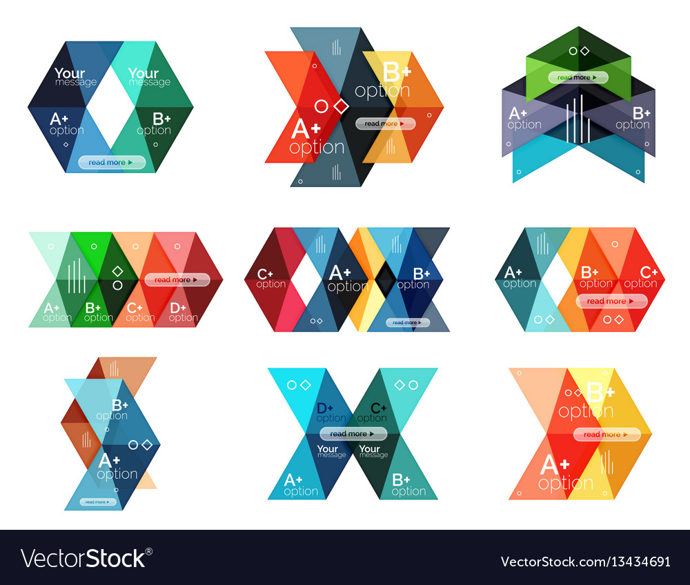 Collection of colorful geometric shape