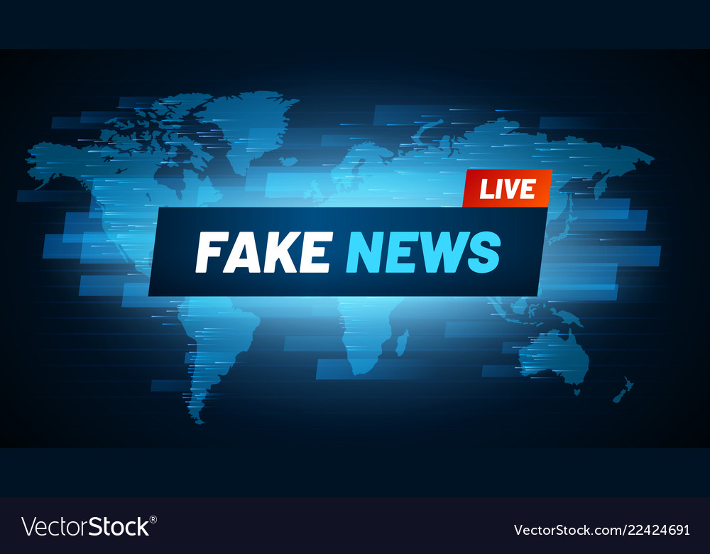 Fake news headline television reportage vector