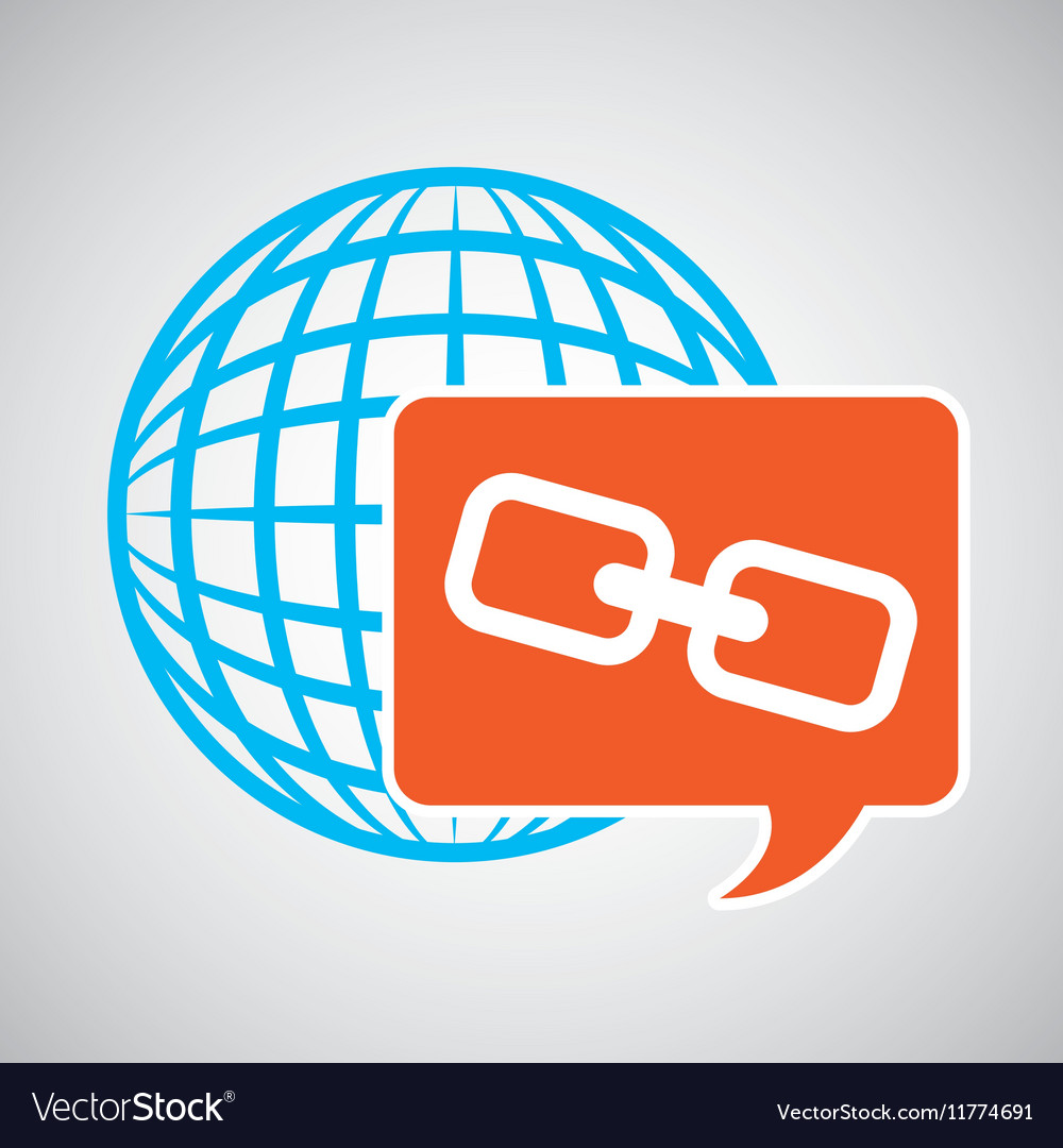 Global web network link web icon vector image