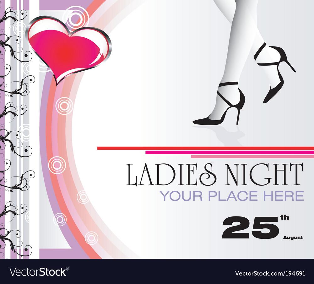 Ladies Night flyer vector image