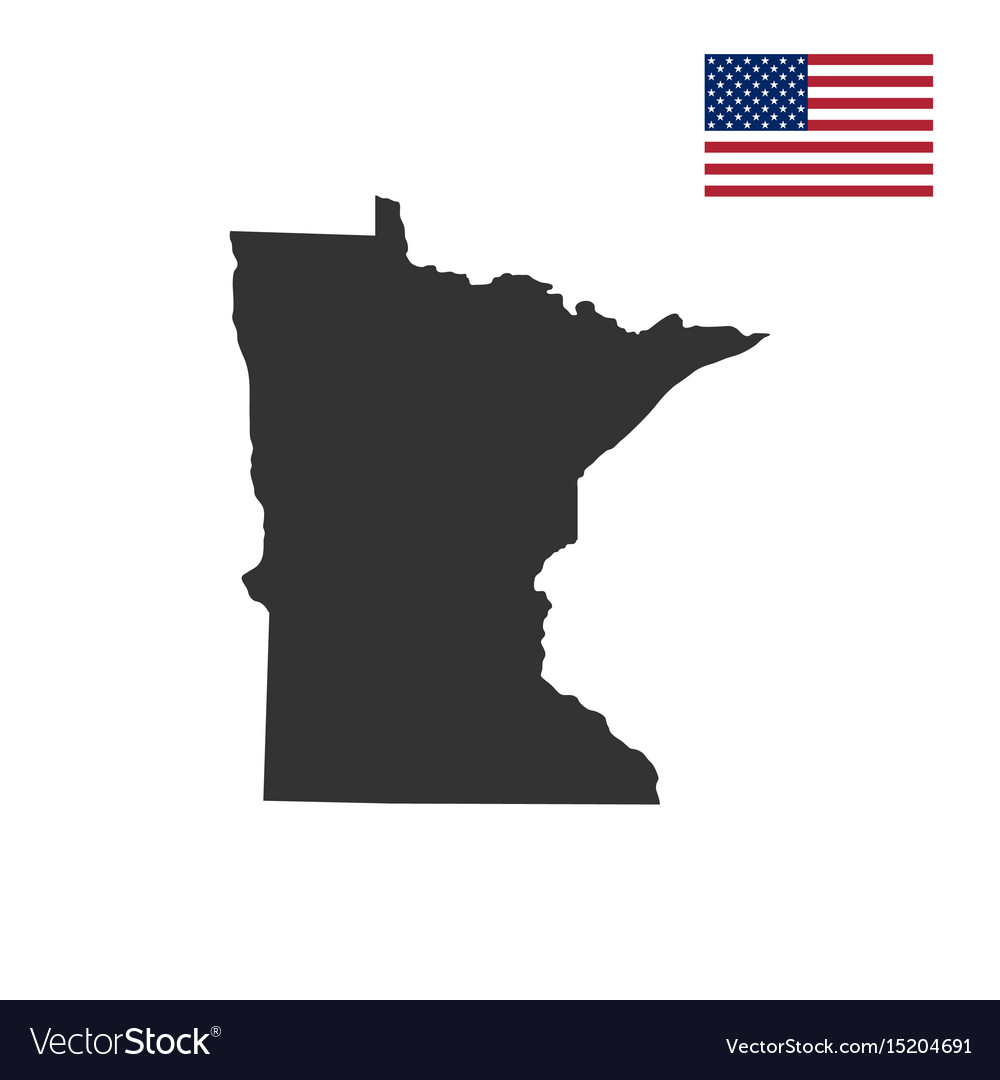 Map Of The Us State Of Minnesota Royalty Free Vector Image