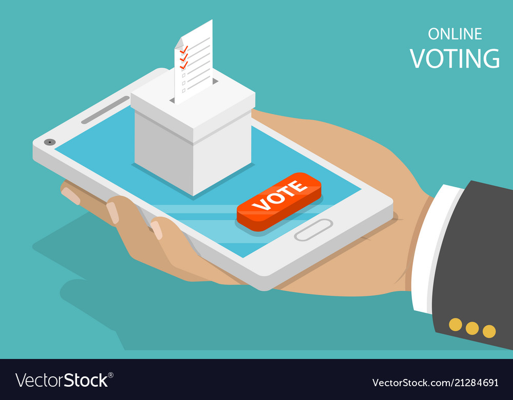 Online voting flat isometric concept