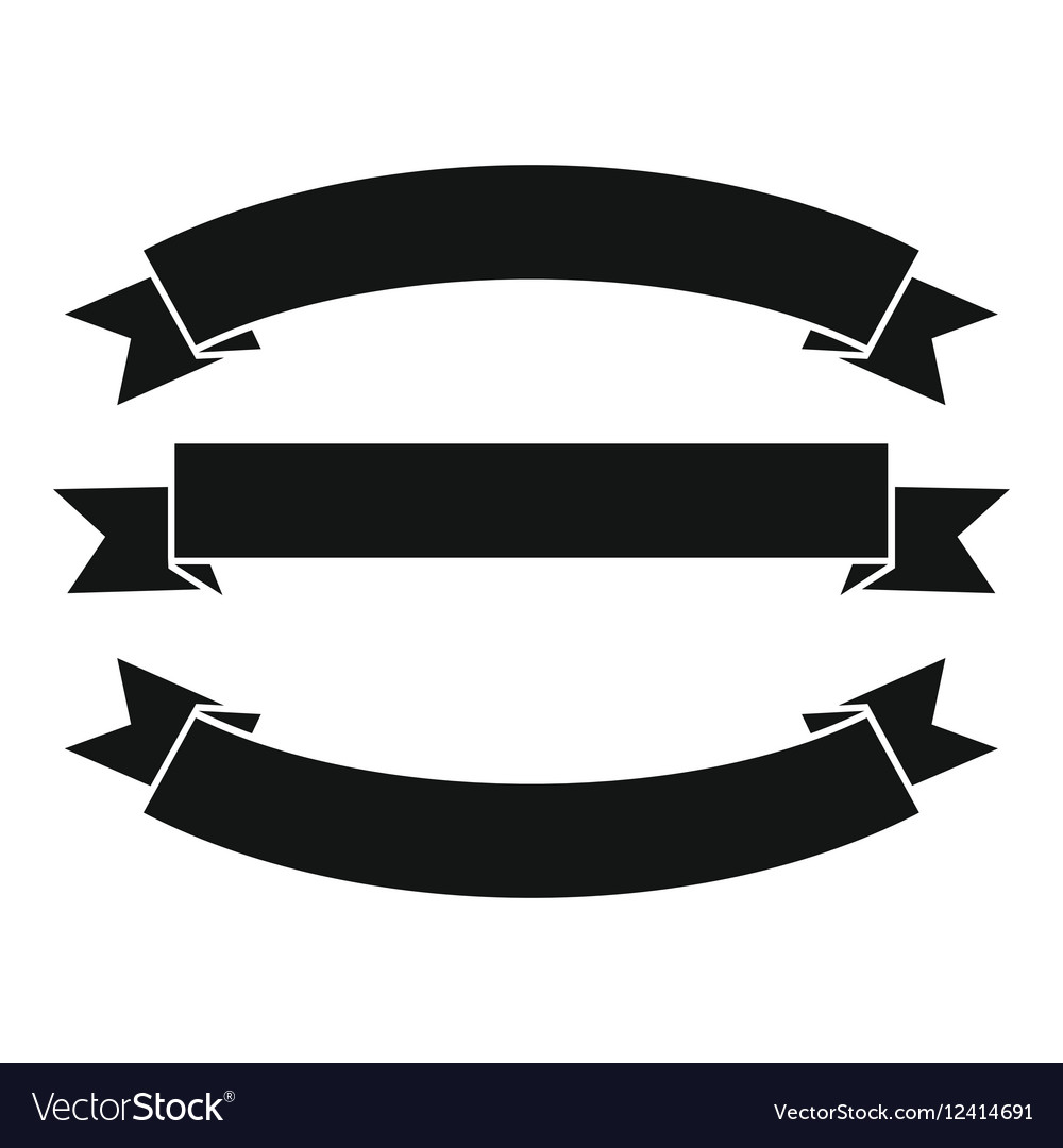 ribbons icon simple style royalty free vector image rh vectorstock com vector ribbons vector ribbons free