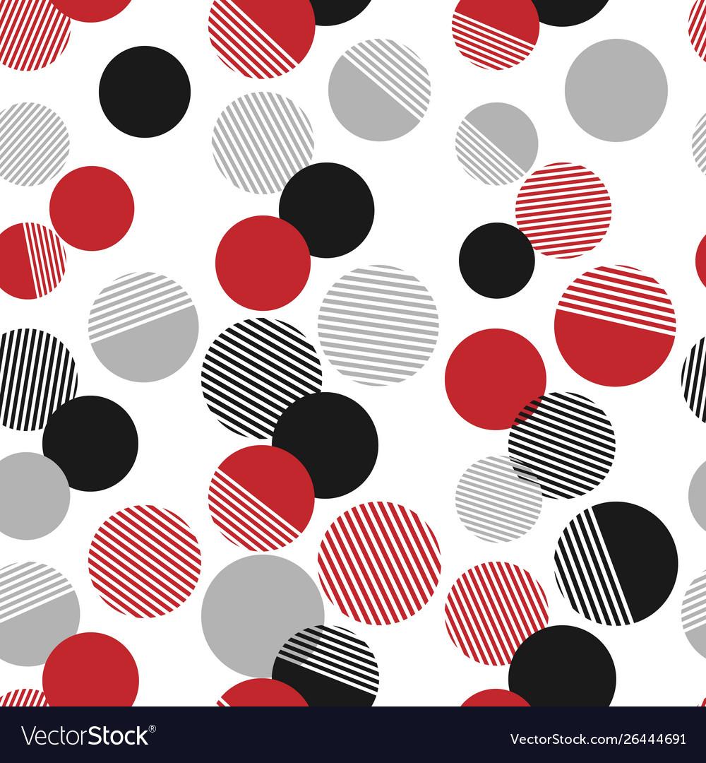 Seamless pattern colorful dots and geometric