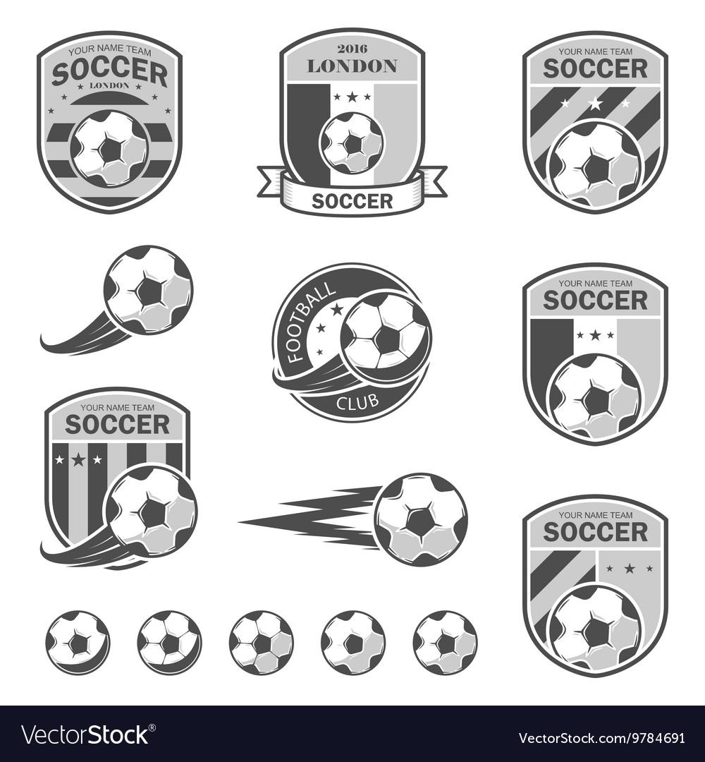 Set of football logos