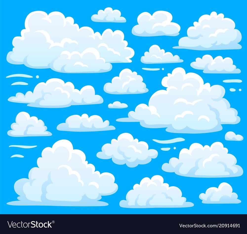 White cloud symbol for cloudscape background
