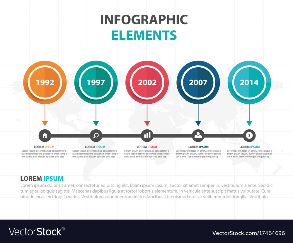 abstract colorful circle business timeline vector image
