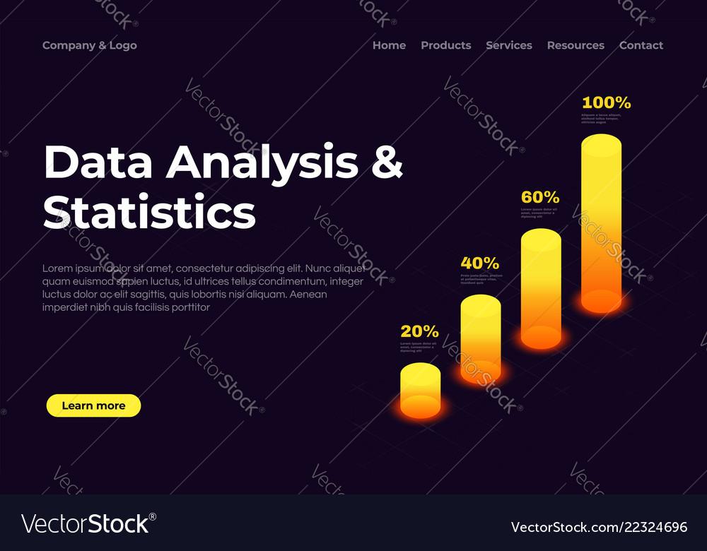 Data analysis and statistics landing page
