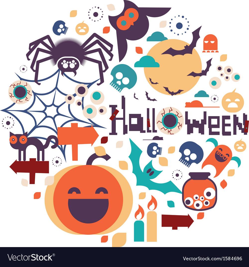 Halloween circle design