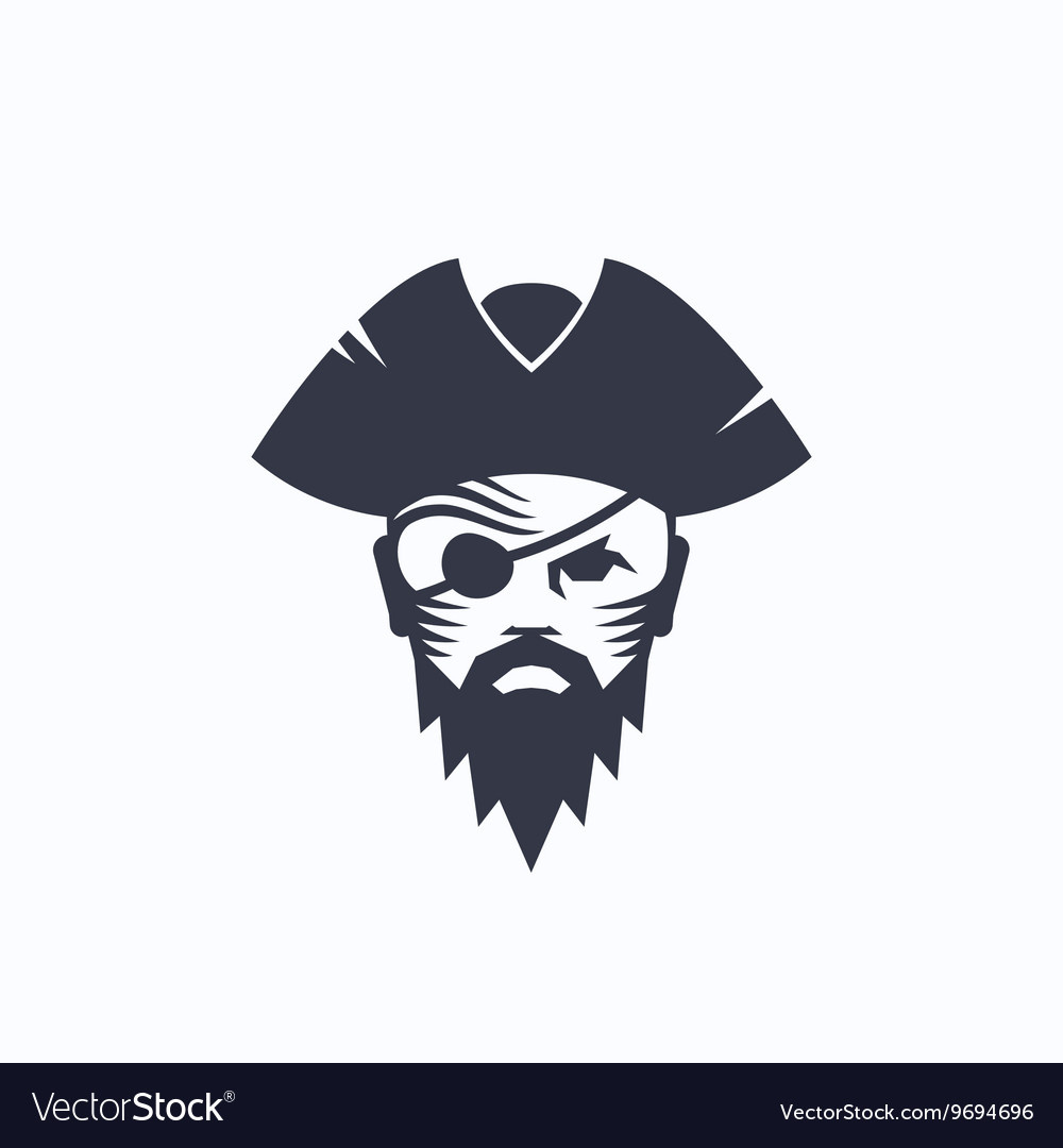 Pirate head abstract logo template sailor