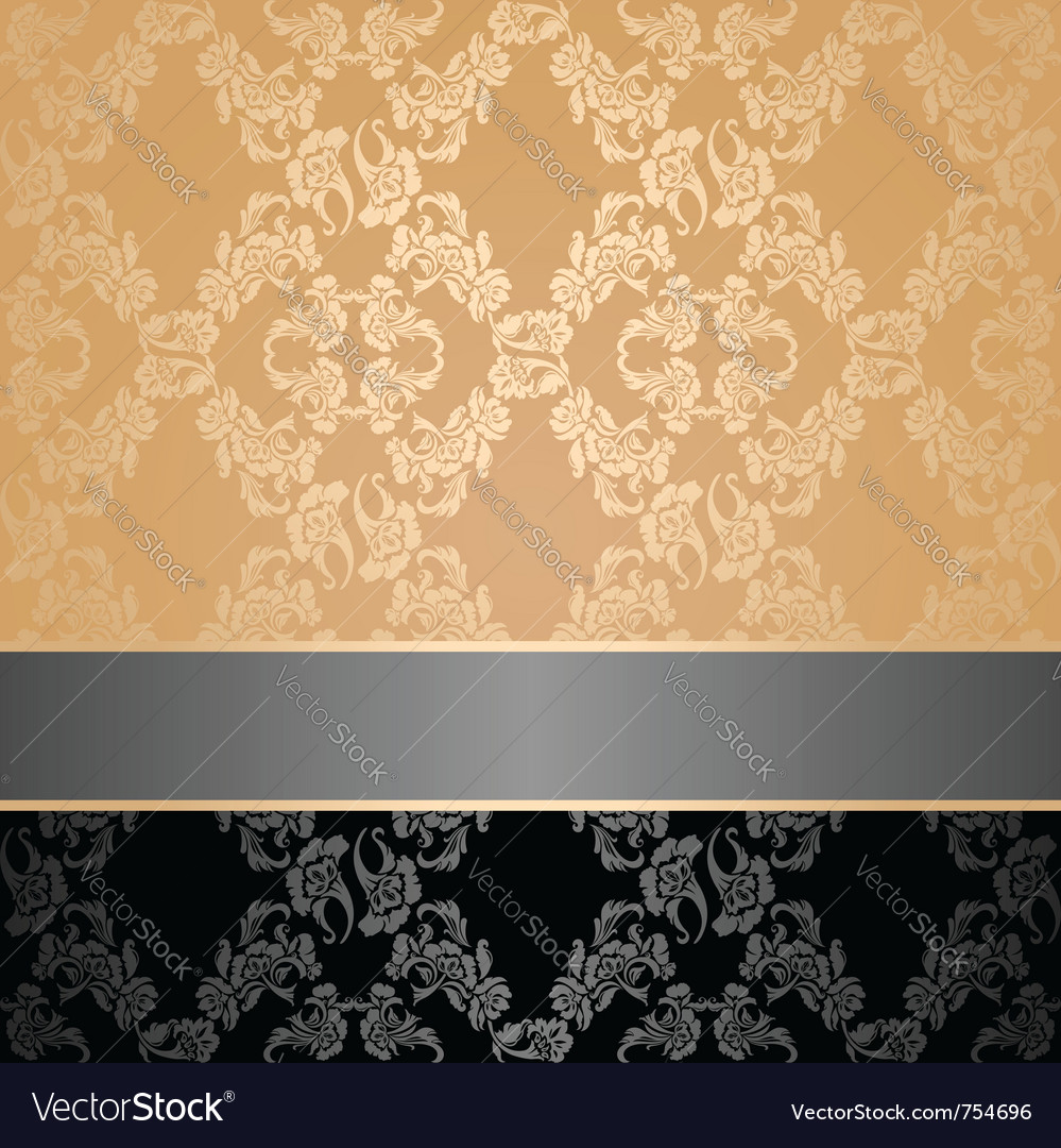 Seamless pattern floral decorative background gray