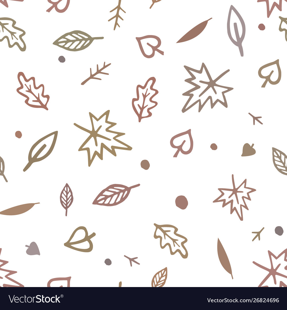 Seamless pattern with cute hand drawn