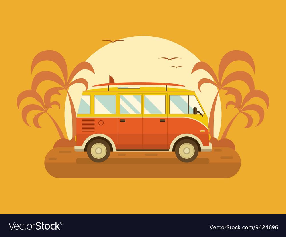 Travel Omnibus on Summer Beach