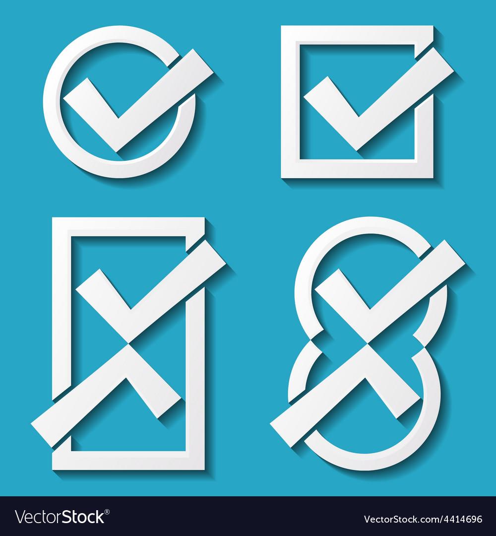 White tick icons