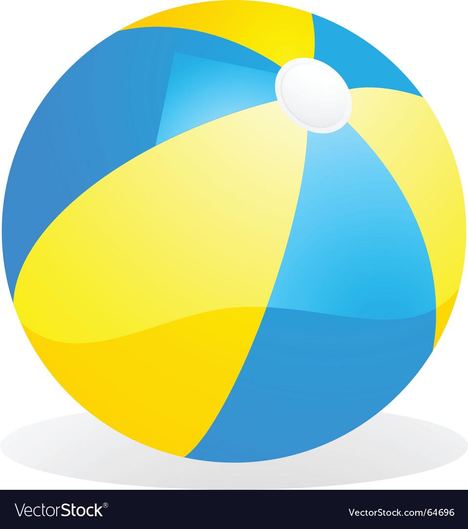 yellow and blue beach ball royalty free vector image rh vectorstock com beach ball vector png beach ball vector png