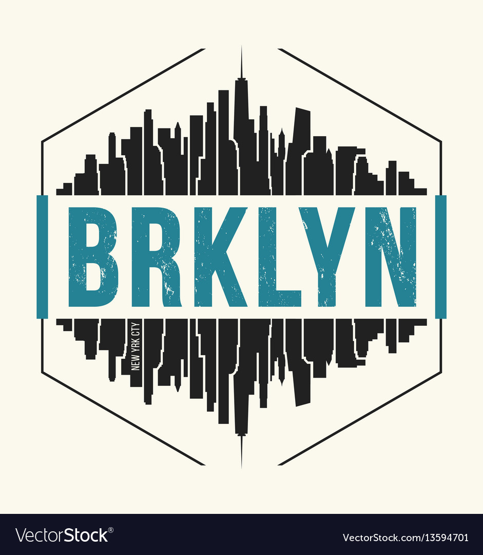 Brooklyn new york graphic t-shirt design tee