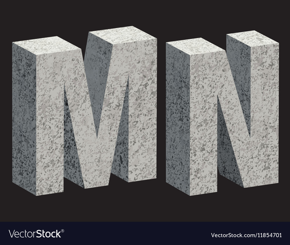 Concrete 3D letters