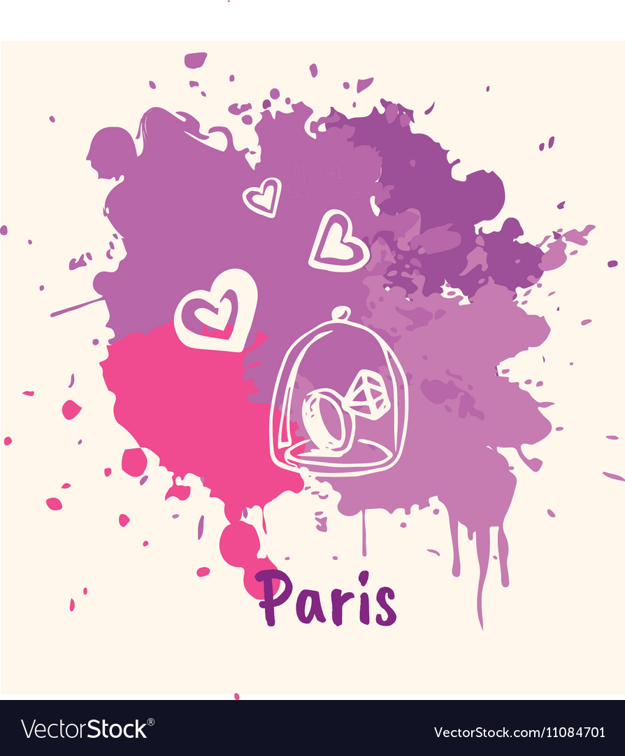 French Emotive Motive with romantic present vector image