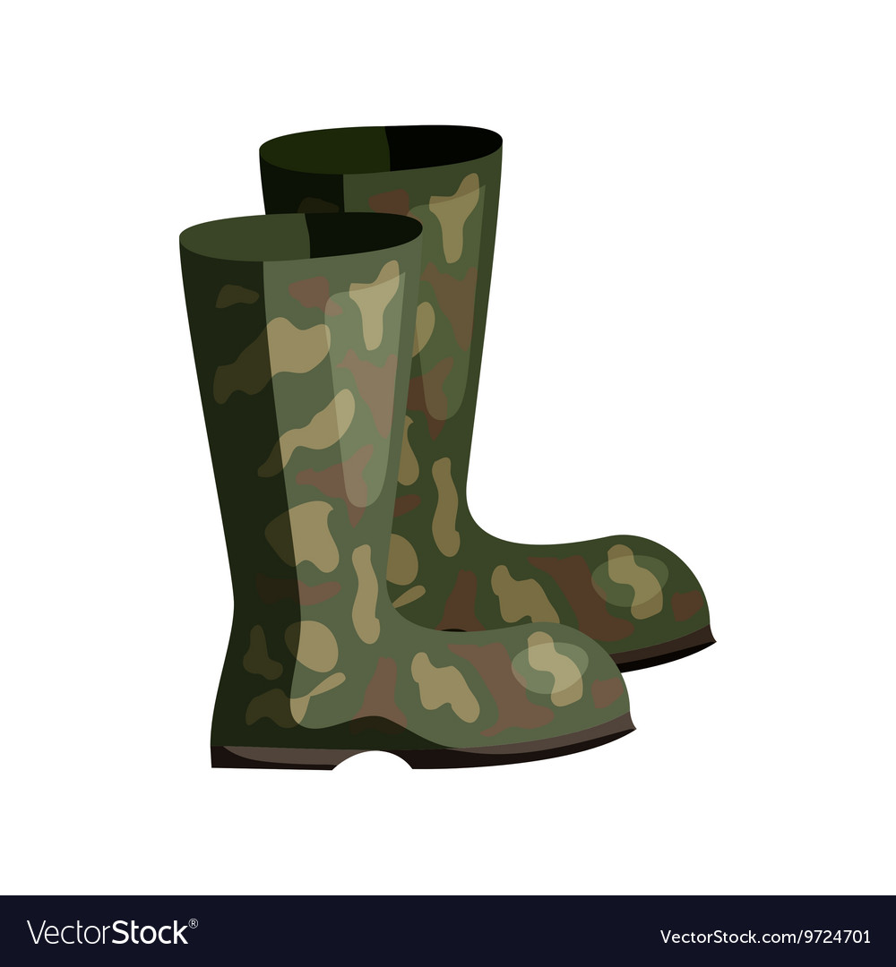 Hunting rubber boots icon cartoon style vector image