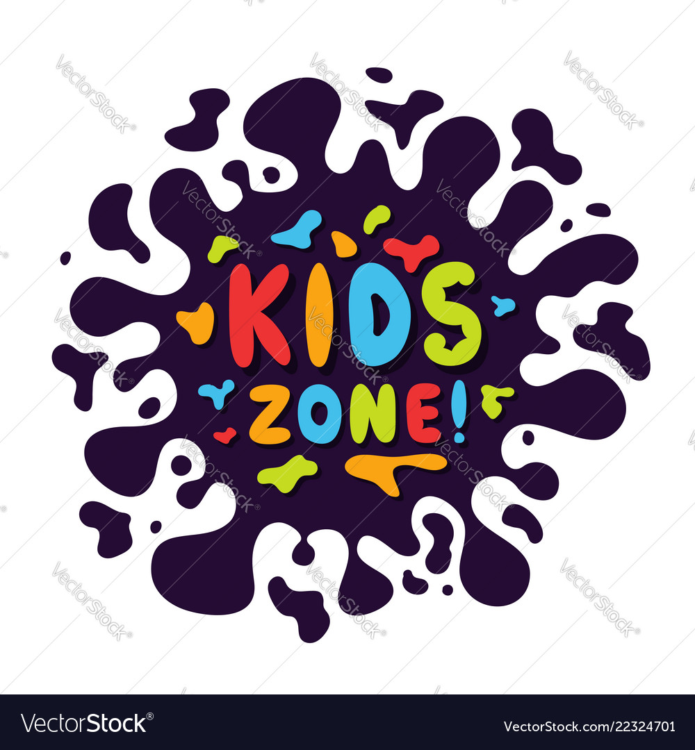Kids zone background with colorful and playful