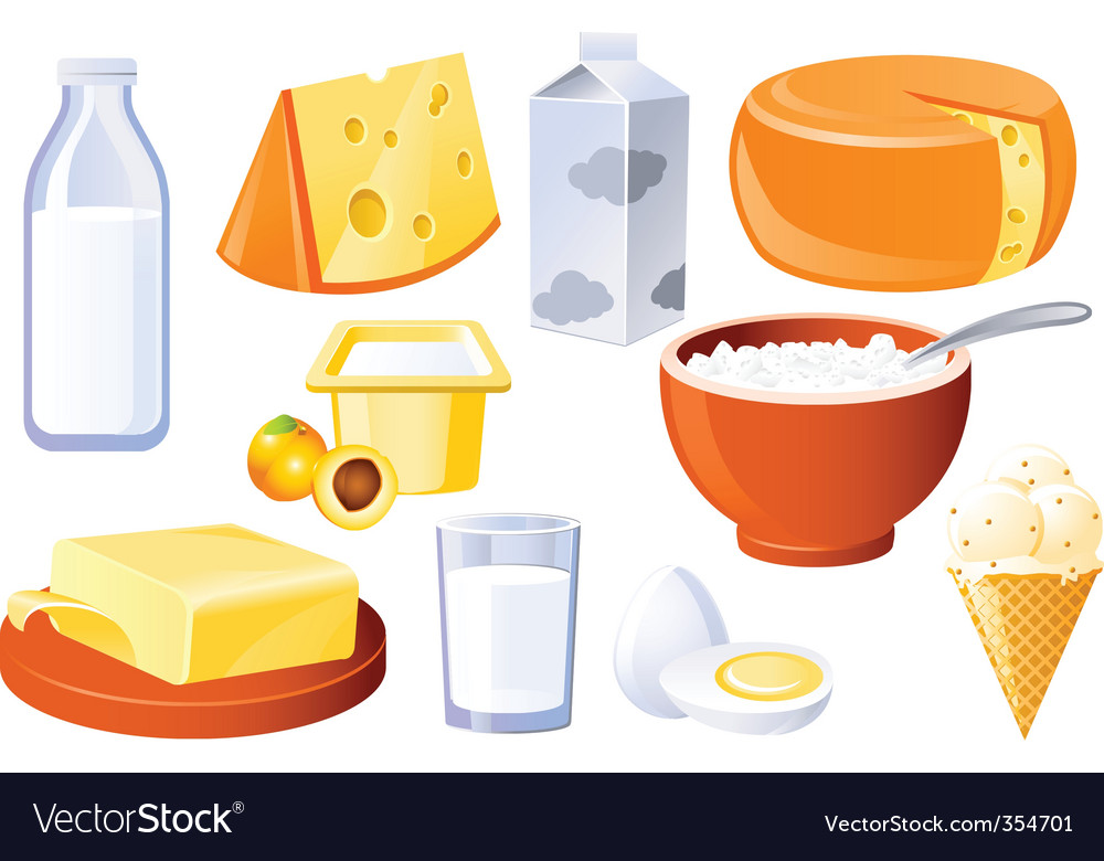 Milk and farm products vector image