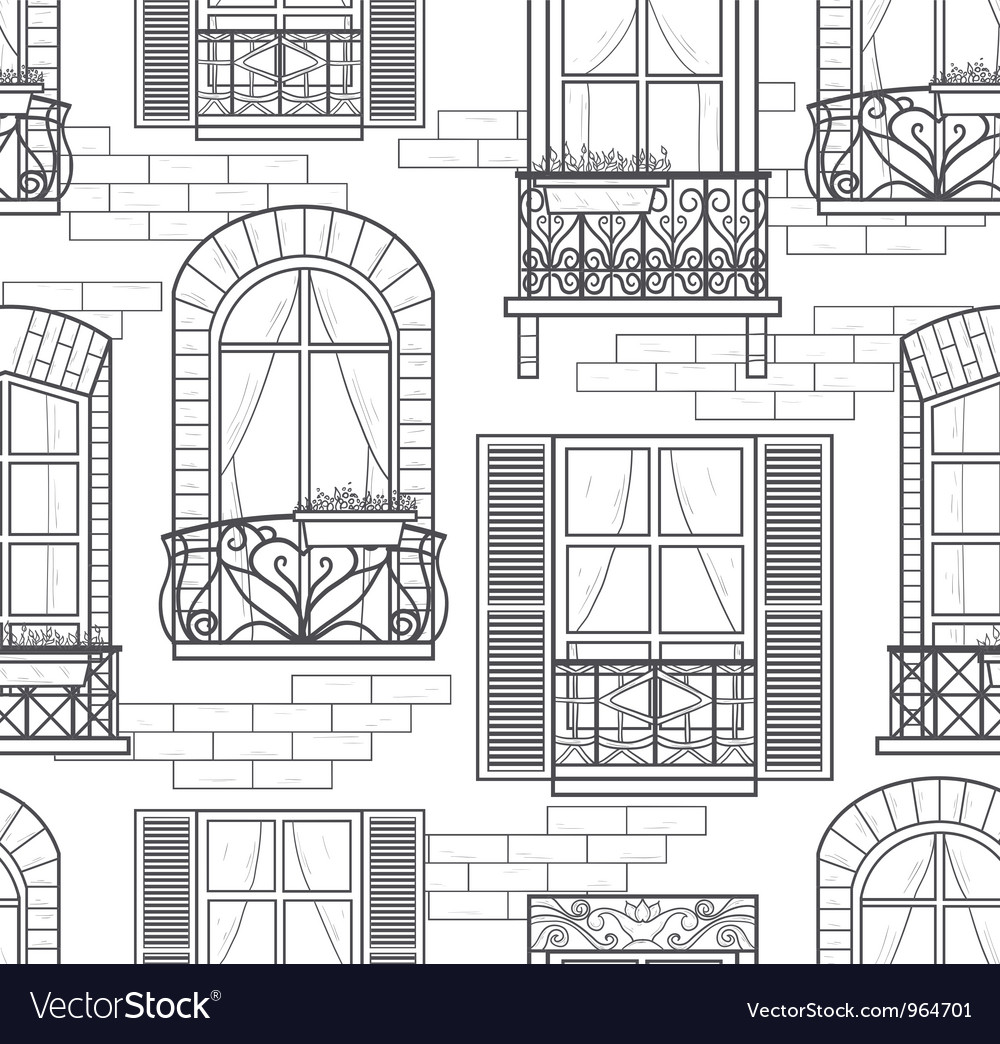 Seamless windows pattern vector image