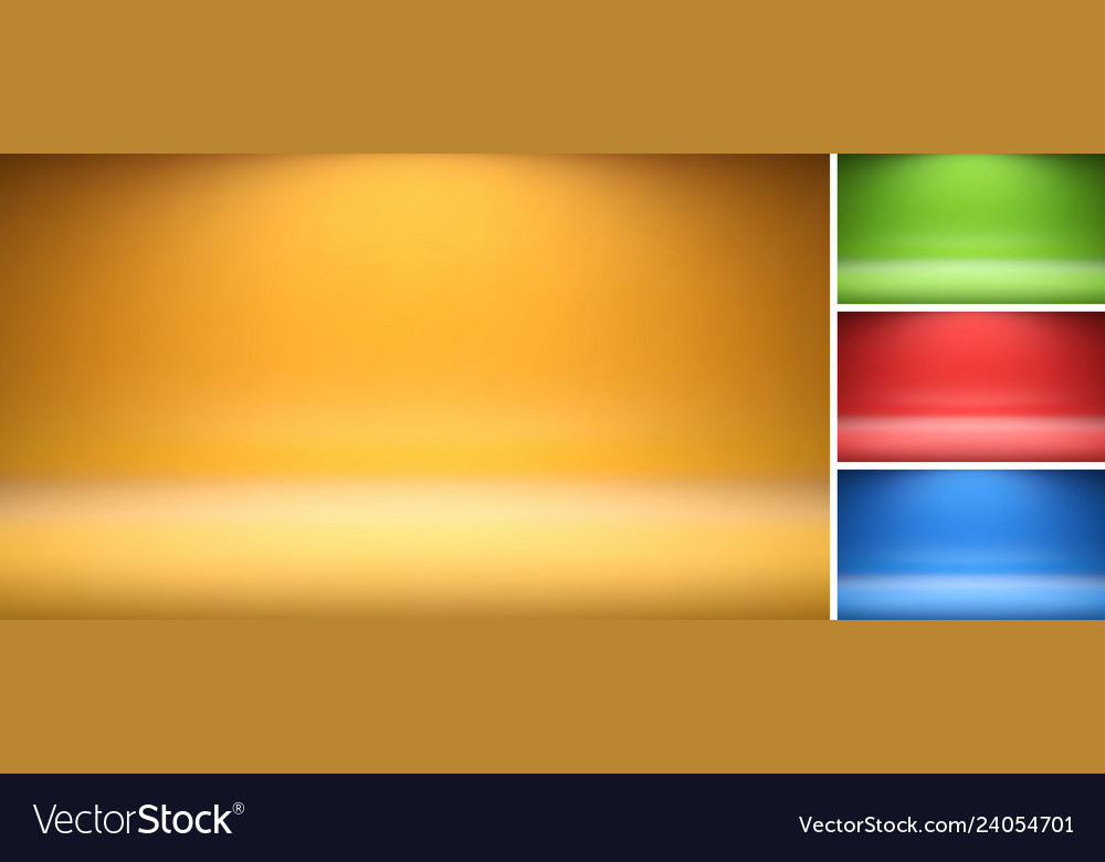 Set colorful studio backdrops with empty space
