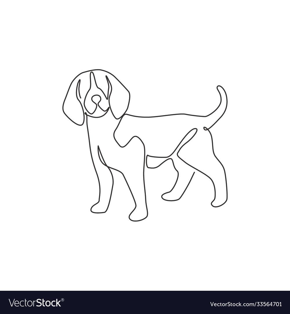 Dogs /& Pets INSTANT DOWNLOAD Minimalist Wall Art Drawing Beagle Line Art