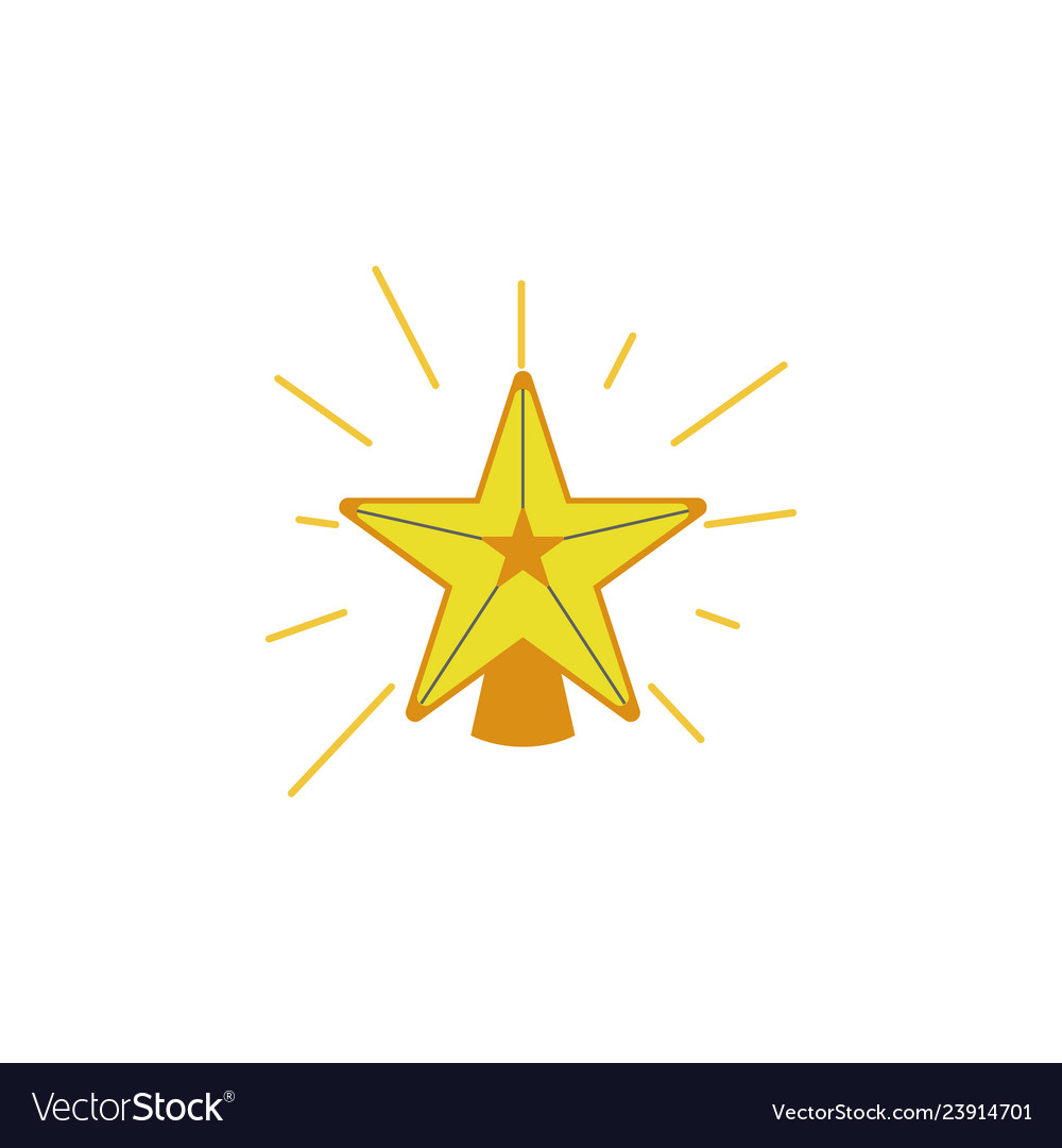 Star decoration color icon element of christmas