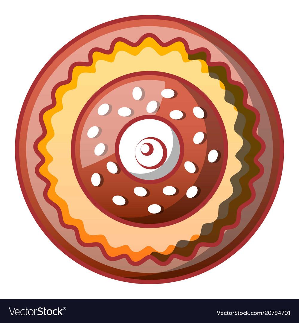 Sweet bakery icon cartoon style vector image