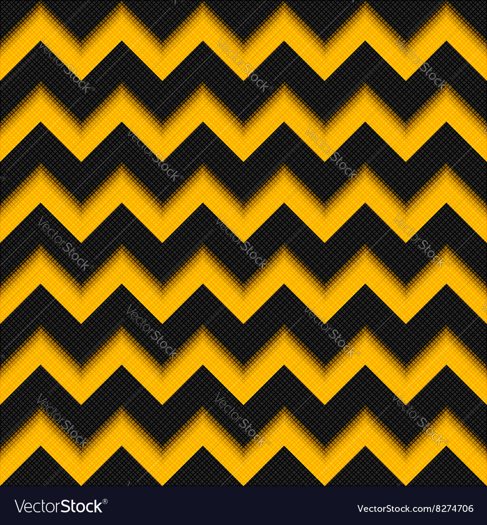 Black and yellow background 3D fiber zigzag