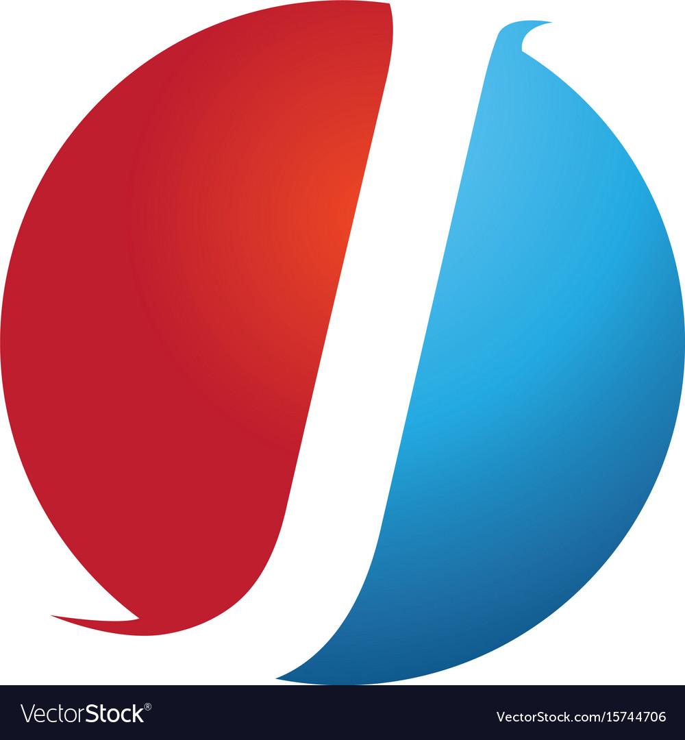 J modern business letter logo design