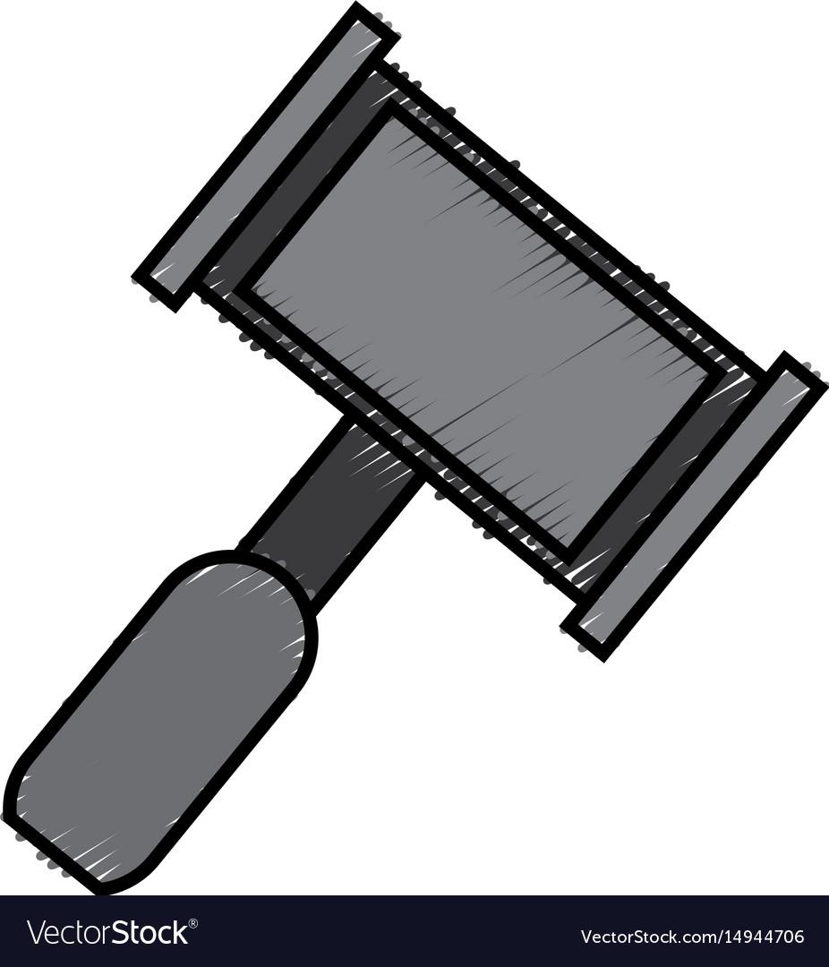 Law hammer icon