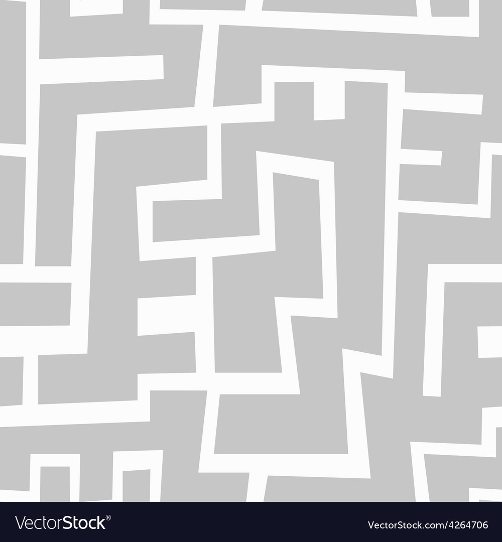 Monochrome aztec seamless pattern vector image