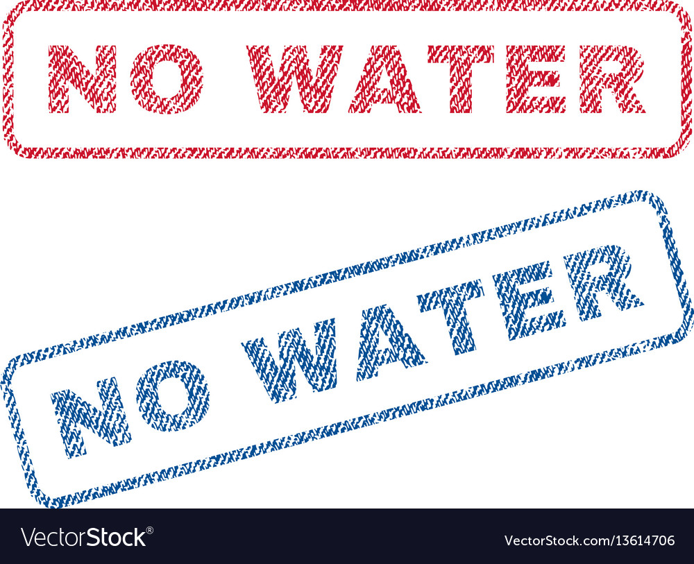 No water textile stamps vector image