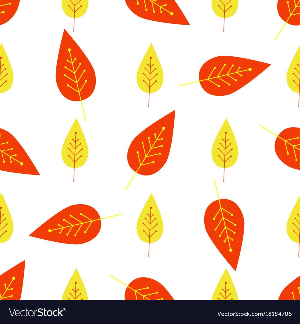 Seamless autumn background botanical
