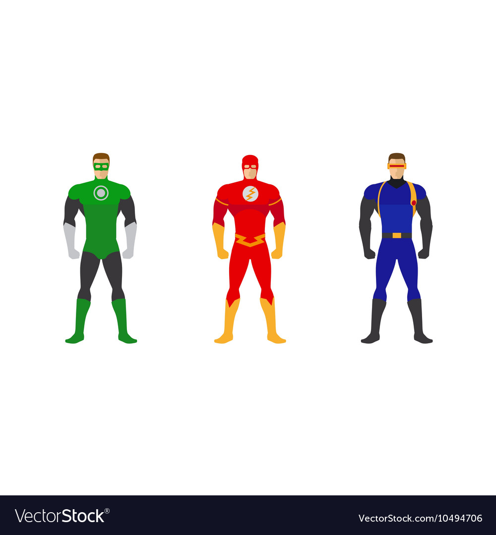 Superhero costumes set