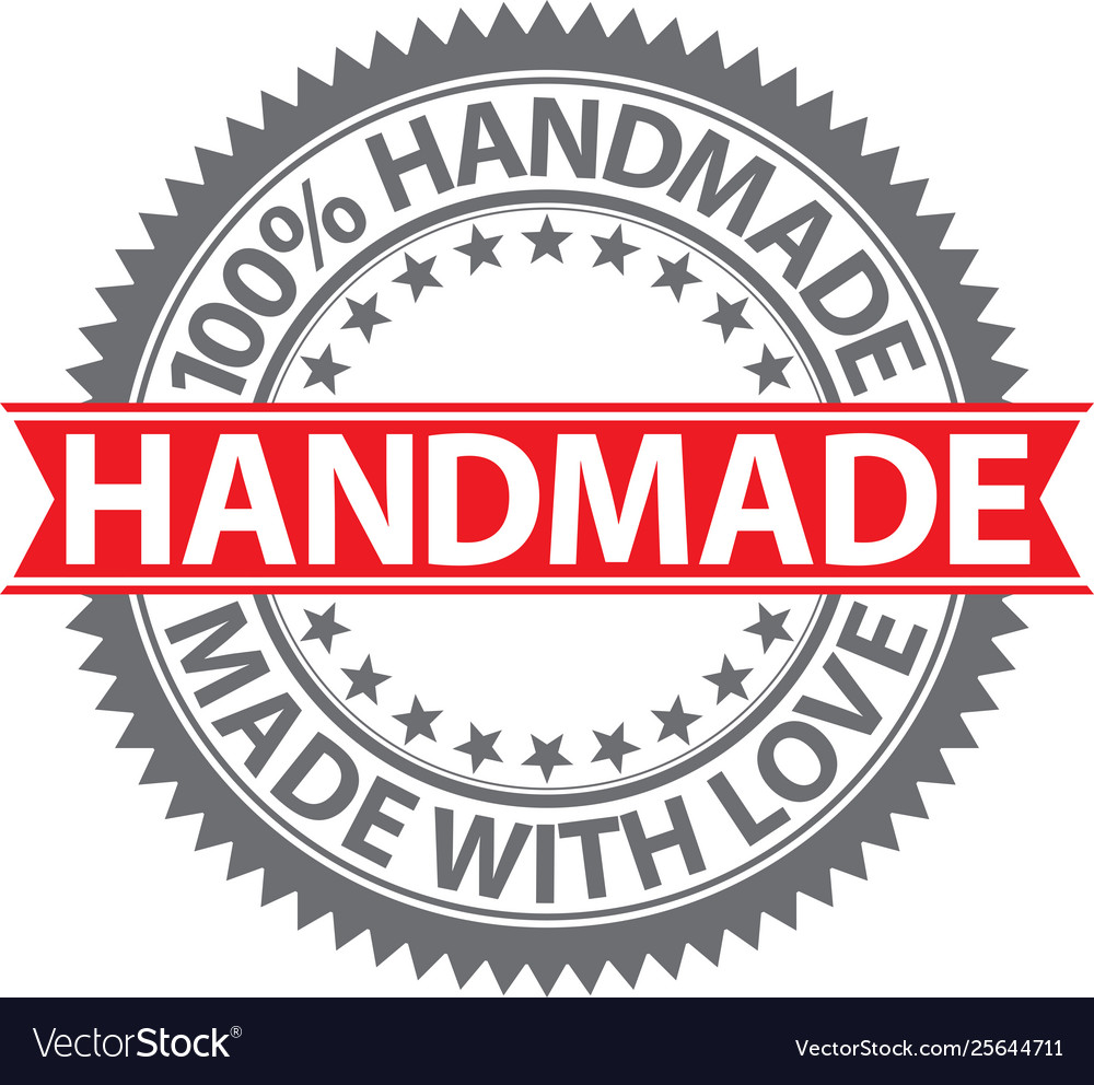100 handmade label made with love badge