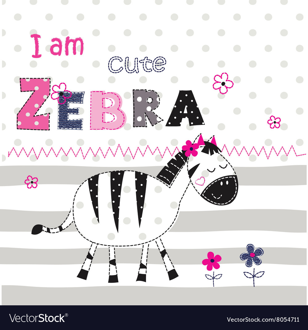 Background with cute zebra