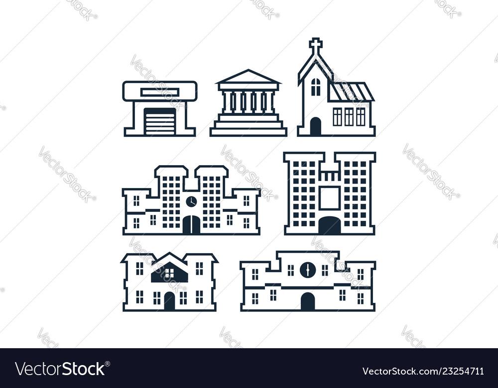 Building logo icon