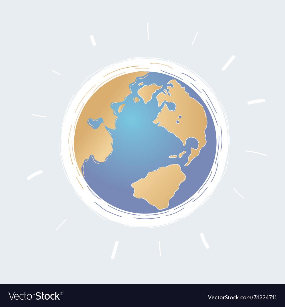 Cartoon world globe on