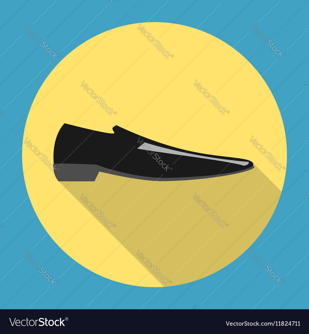 Classic black man shoe