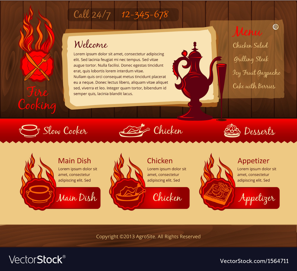 Cooking vintage web template