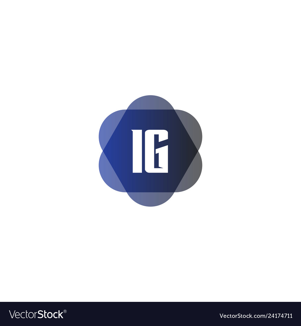 Initial Letter Logo Ig Template Design Royalty Free Vector
