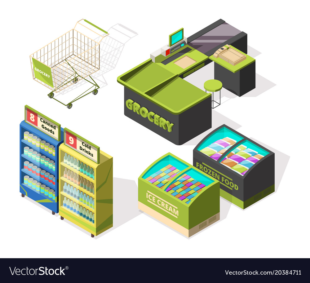 Isometric constructions for supermarket or