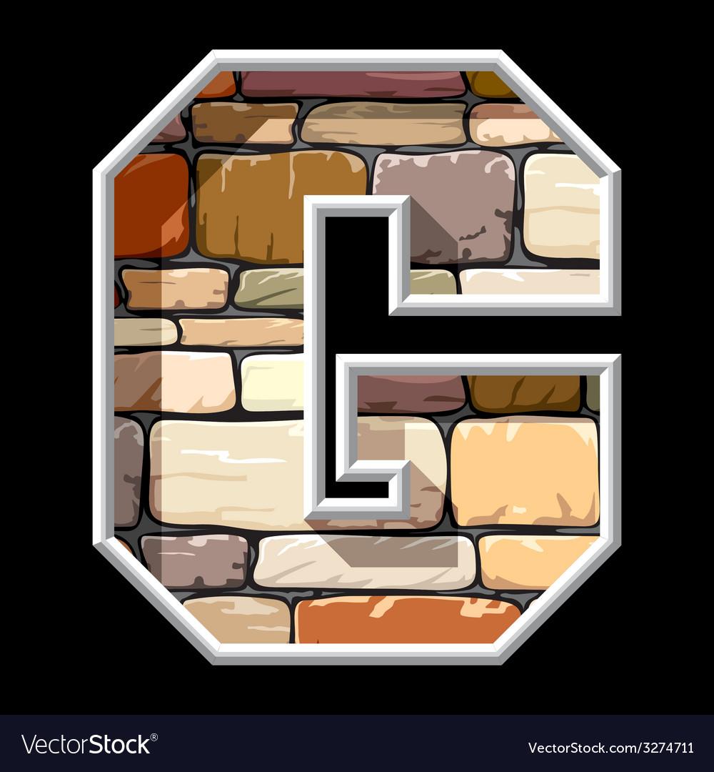 Stone letter G