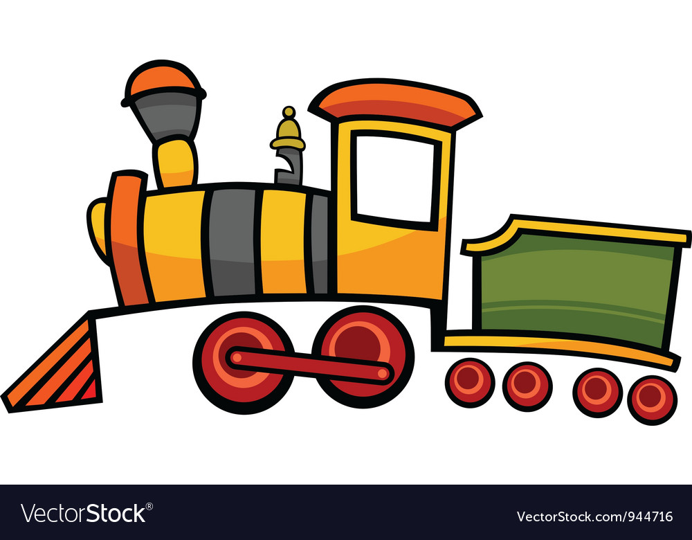 cartoon train or locomotive royalty free vector image rh vectorstock com free cartoon train pictures train cartoon pictures black and white