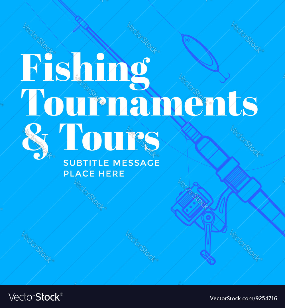 Contemporary Flyer Fisherman Poster Template Vector Image
